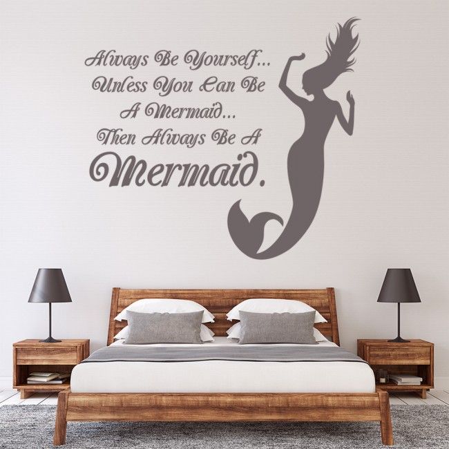 Always Be A Mermaid Girls Quote Wall Sticker WS-40803