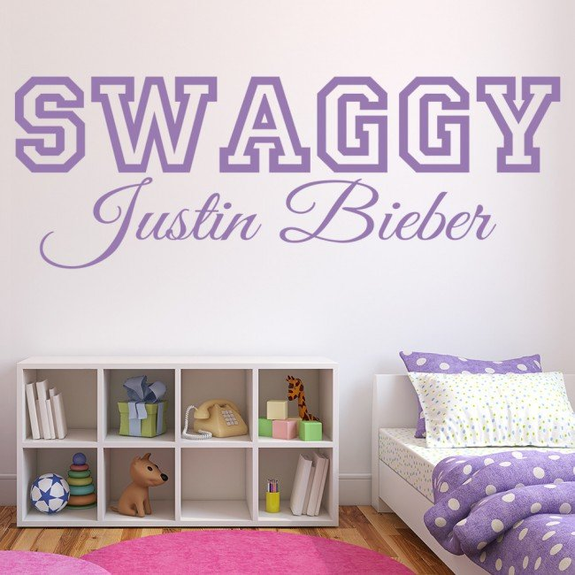 Justin Bieber Wall Sticker Swaggy Wall Decal Pop Music