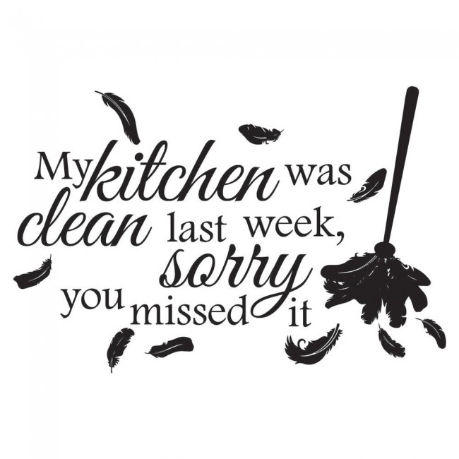 Clean Kitchen Quotes: My Kitchen Was Clean Wall Sticker Kitchen Quotes Wall