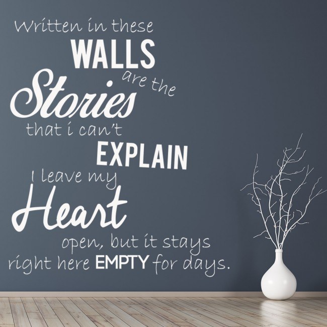 One Direction Wall Sticker Story Of My Life Wall Decal Pop Music - One direction wall decals