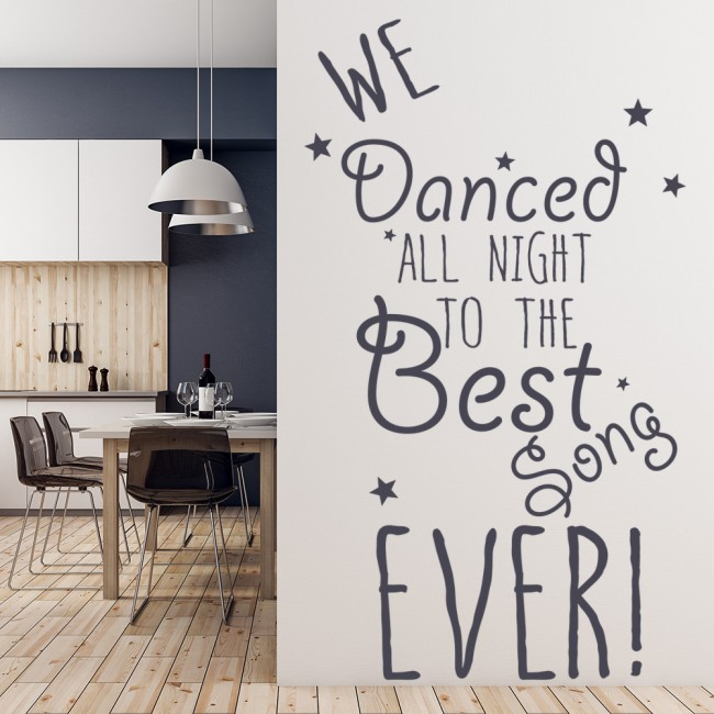 One Direction Best Song Ever Lyrics Wall Sticker