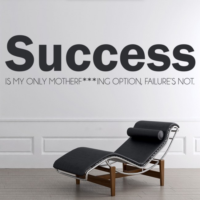 Success eminem wall sticker song lyrics wall decal rap for Eminem wall mural