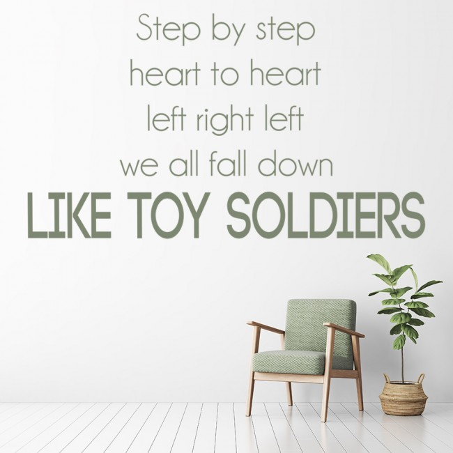 Toy soldiers wall sticker eminem song lyrics wall decal for Eminem wall mural