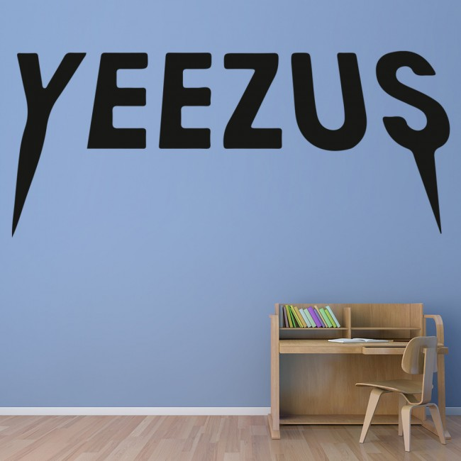 yeezus wall sticker kanye west wall decal rap music home decor