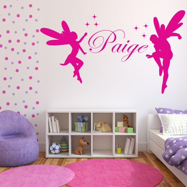 Fantasy Home Decor: Personalised Name Wall Sticker Fantasy Fairy Wall Decal