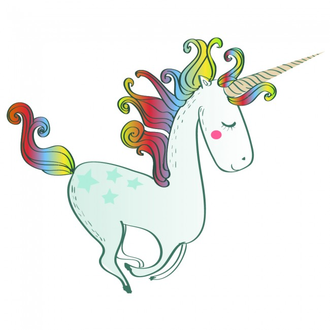 Rainbow Unicorn Wall Sticker