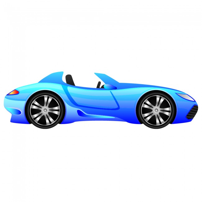Blue Race Car Wall Sticker Fun Sports Car Wall Decal Boys