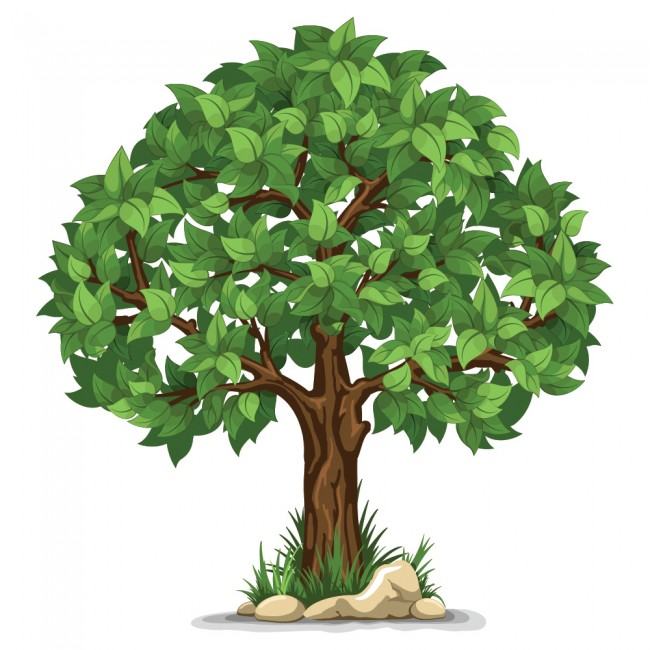 Green Tree Wall Sticker Nature Floral Wall Decal Living ...