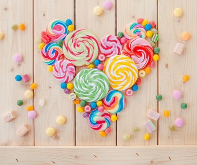 Sweets candy heart wall mural food drink photo wallpaper for Candy wall mural