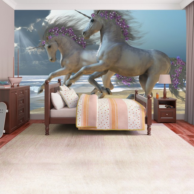Unicorns Wall Mural Fairytale Fantasy Photo Wallpaper