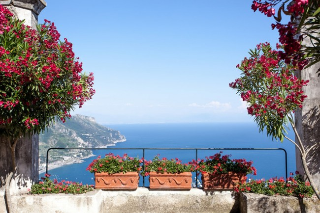 Amalfi Coast Landscape Wall Mural Wallpaper