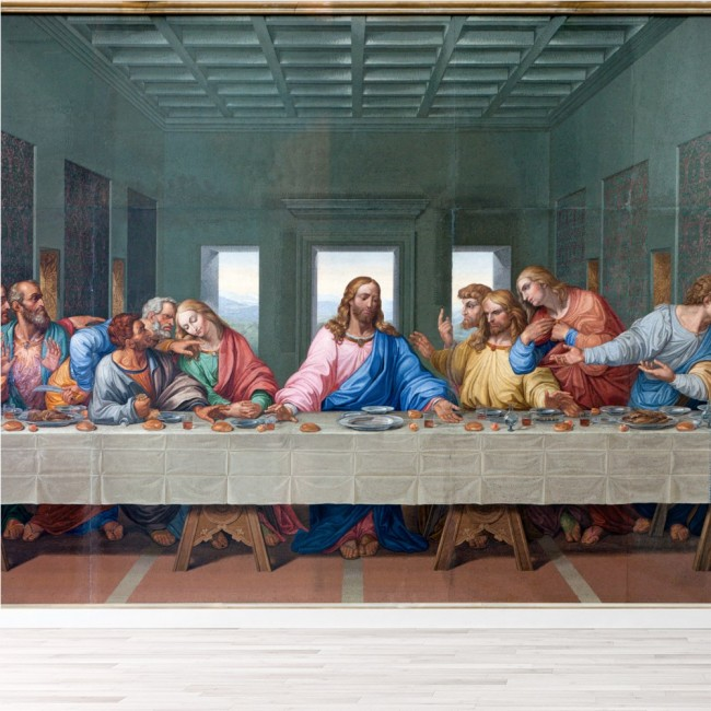 Home Interior Jesus: The Last Supper Wall Mural Jesus Christ Photo Wallpaper