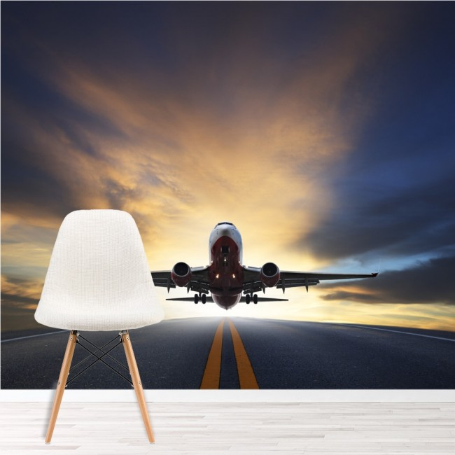 Aeroplane wall mural airplane transport photo wallpaper for Aeroplane wall mural