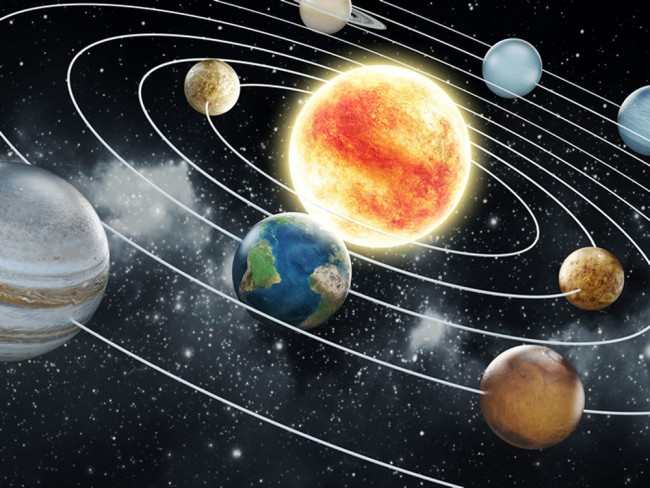 Solar System Space Wall Mural Wallpaper