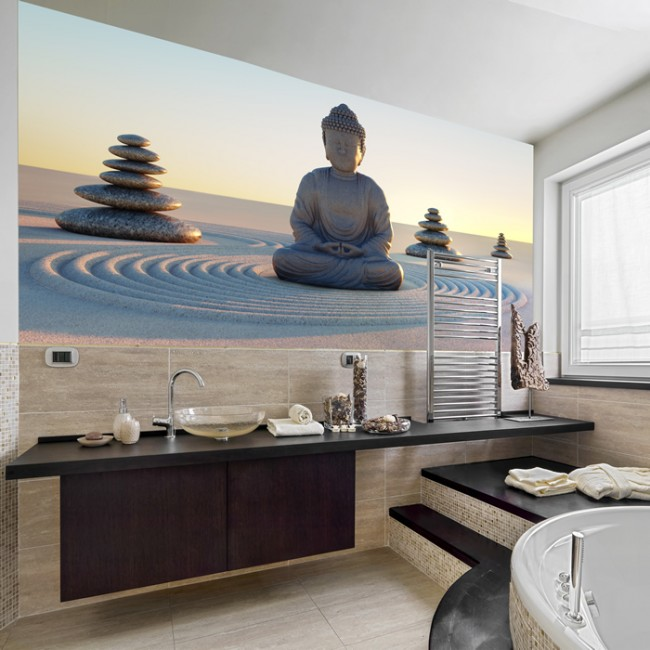 Buddha Statue Wall Mural Religion Photo Wallpaper Bedroom Home Decor