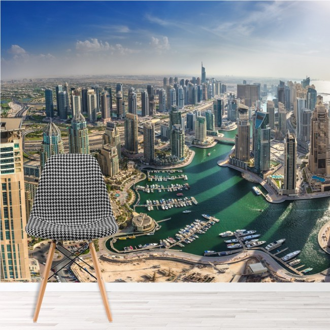 Free Comic Book Day Dubai: Dubai City Skyline Wall Mural Wallpaper