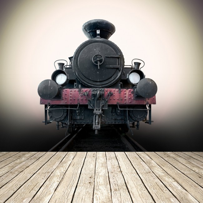 Wallpapers Of Trains: Vintage Railway Train Wall Mural Wallpaper
