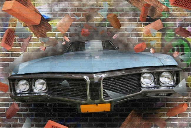 Graffiti Car Art Wall Mural 3d Photo Wallpaper Kids