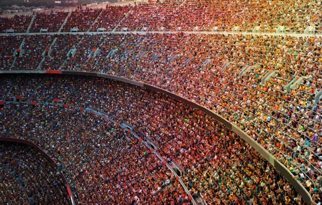 crowded stadium wall mural football photo wallpaper sports  u0026 hobbies home decor