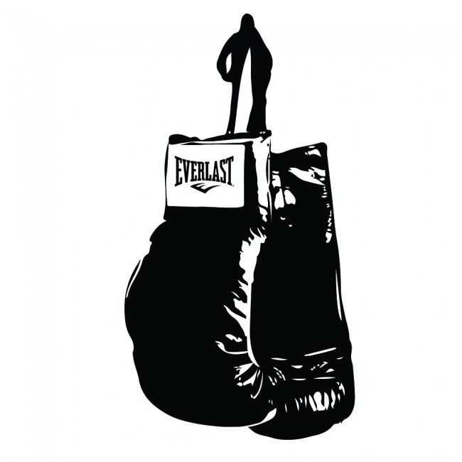 Boxing Glove Wall Sticker Boxer Sports Wall Decal Bedroom