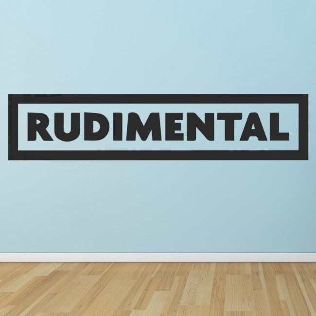 Rudimental Wall Sticker Musicians & Band Logos Wall Decal Music Home ...