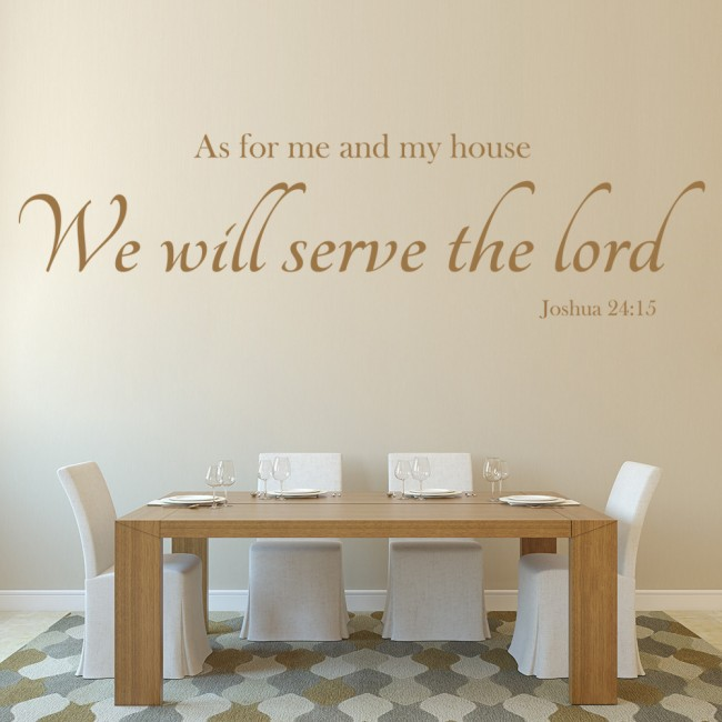 Serve The Lord Wall Sticker Bible Verse Decal Christianity Home