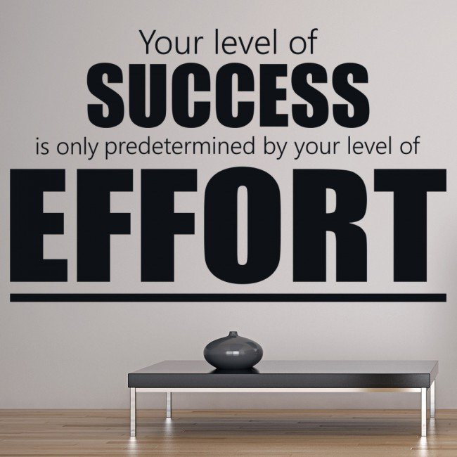 Success & Effort Motivational Inspirational Quotes Wall ...