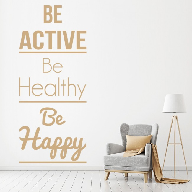 Be Active Wall Sticker Inspirational Quote Wall Decal Gym