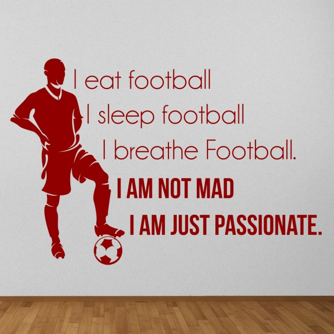 Eat Sleep Football Wall Sticker Sports Quote Wall Decal
