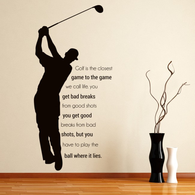 The Game We Call Life Wall Sticker Golf Quote Wall Decal ...