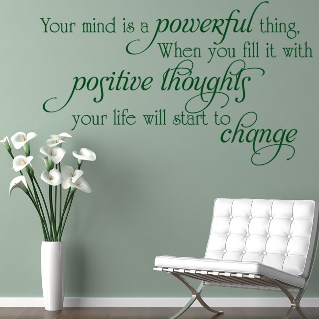 Kitchen Inspirational Quotes: Positive Thoughts Wall Sticker Inspirational Quote Wall