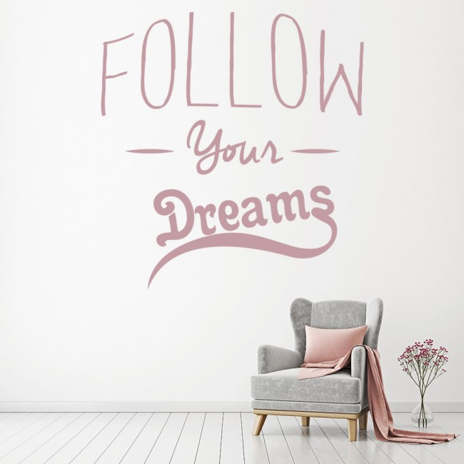 """Follow Your Dreams & Never Say Never"" Wall Art Quotes ...