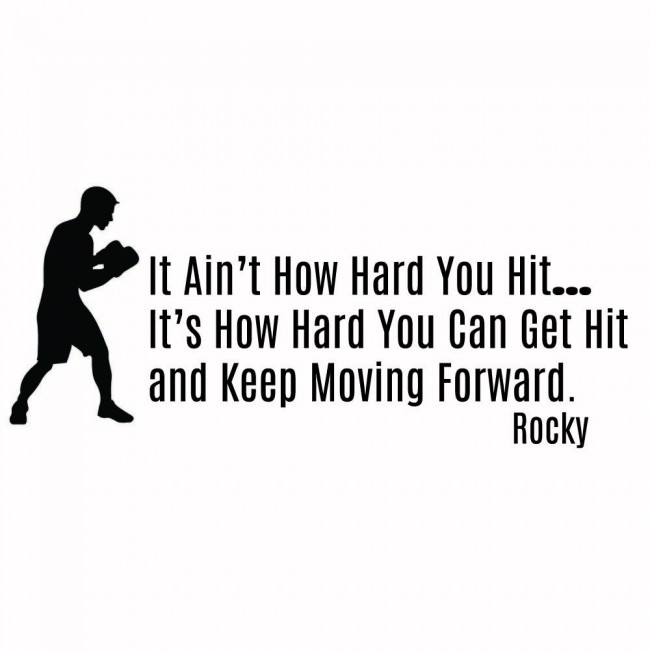 Rocky Balboa Wall Sticker Keep Moving Forward Wall Decal