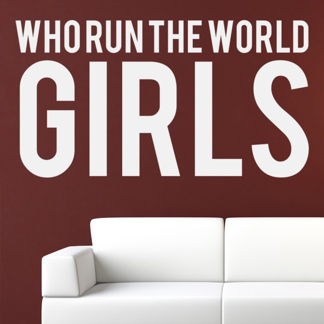 Who Run The World Beyonce Song Lyrics Wall Sticker