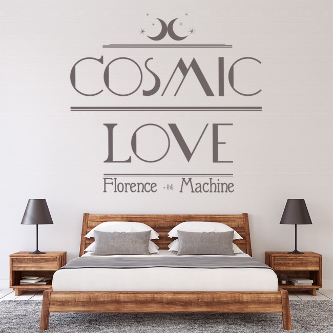 Cosmic Love Wall Sticker Florence and the Machine Wall Decal Song ...