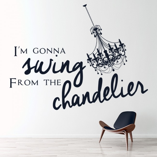 Swing From The Chandelier Lorde Song Lyrics Wall Sticker Home Art ...