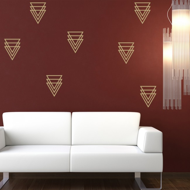 מוצר triangles wall sticker kids triangle wall sticker pack geometric design wall decal 72841