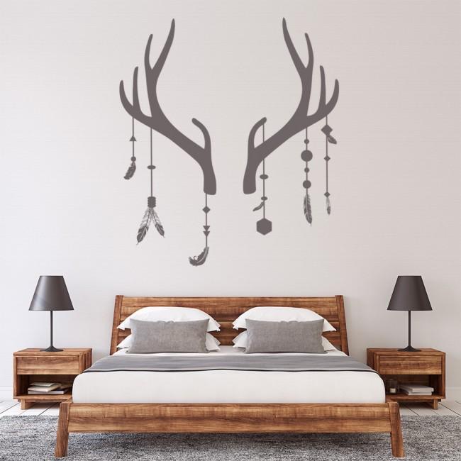 antler deer dream catcher wall sticker