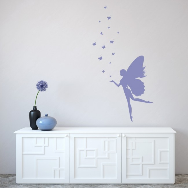 Fantasy Fairy Wall Sticker Butterfly Wall Decal Girls