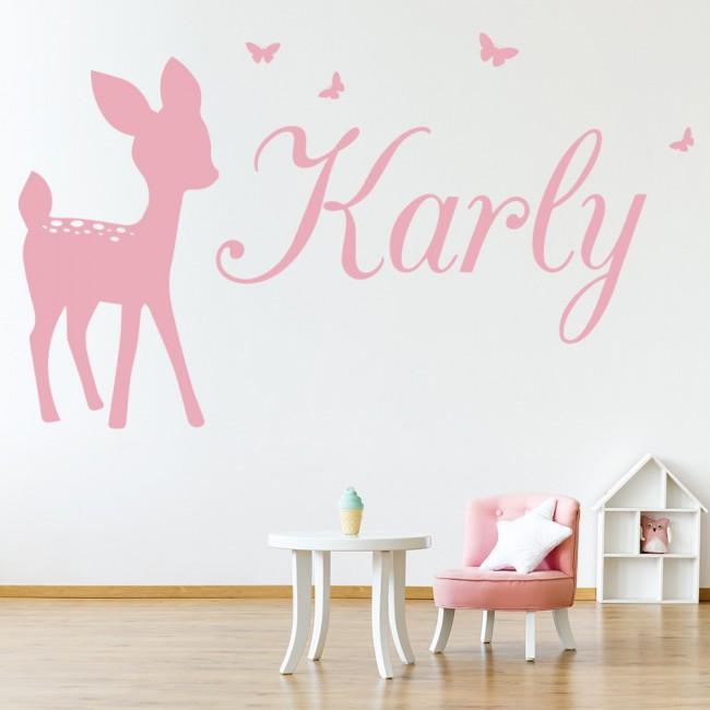 personalised name deer bambi wall sticker