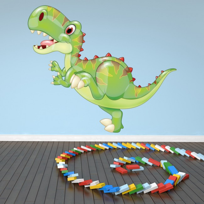 Baby tyrannosaurus dinosaur wall sticker t rex dino wall for T rex bedroom decor