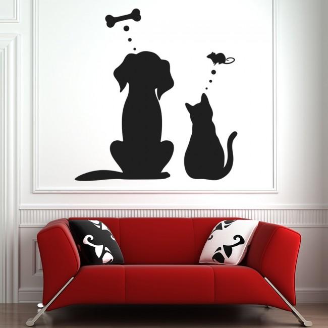 pet dreams dog cat wall sticker