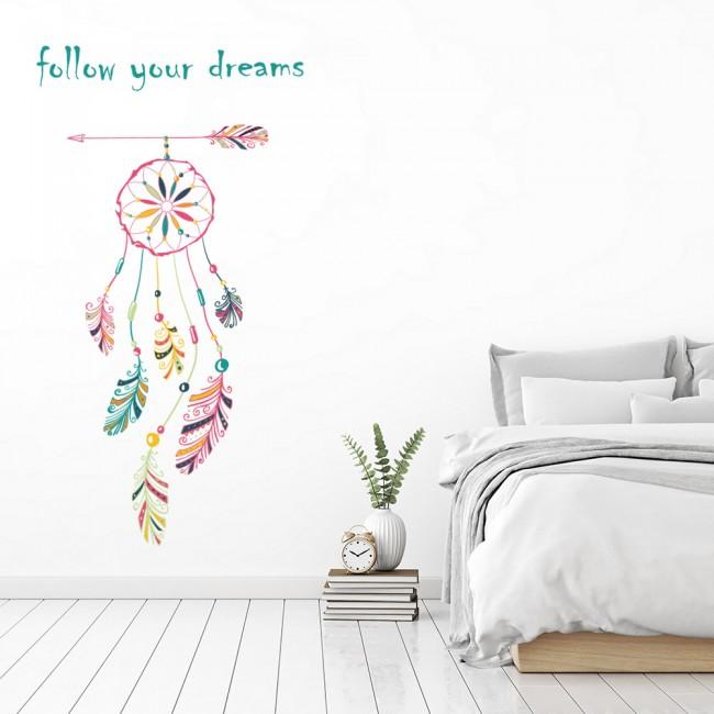follow your dreams dreamcatcher wall sticker