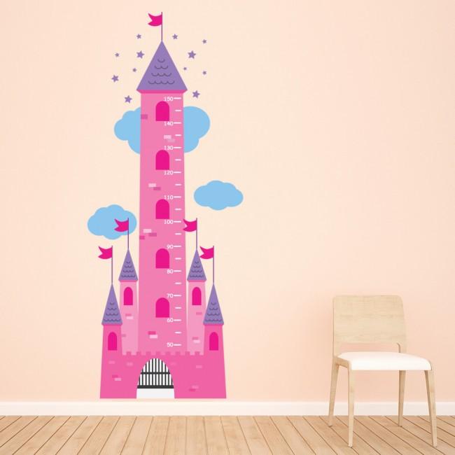 princess castle height chart wall sticker