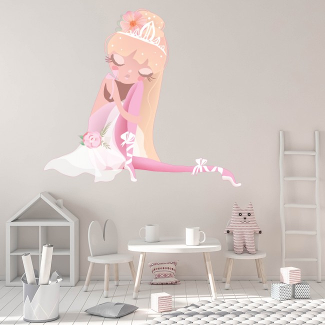Ballerina Any Name Wall Sticker quote Ballet Dancing Dance Once upon a time ..