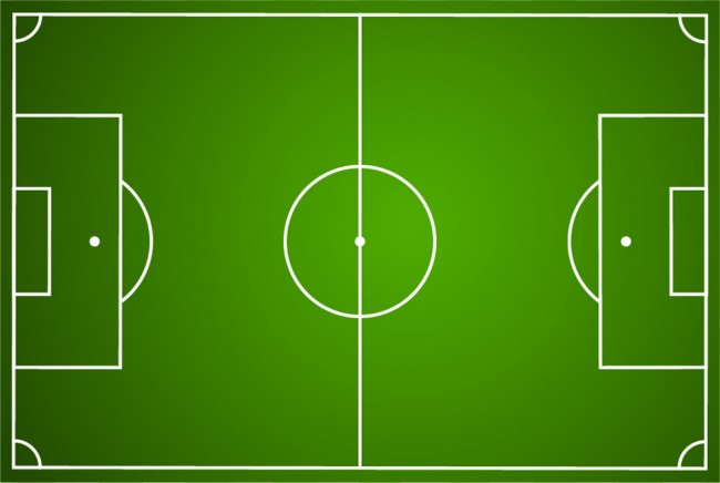 Football Pitch Wall Mural Wallpaper: Football Pitch Sports Wall Mural Wallpaper