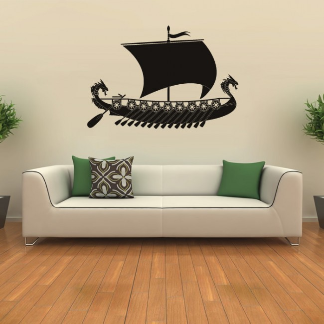 Viking Ship Wall Sticker Battleship Wall Decal Boys