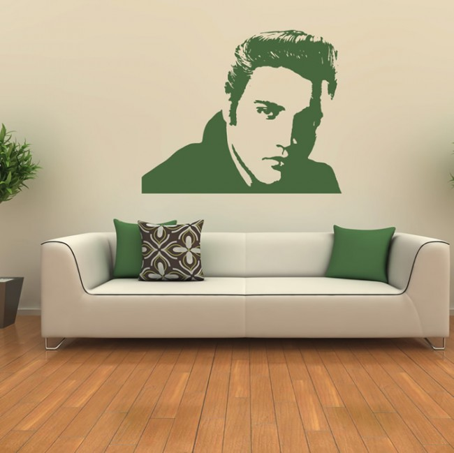 Celebrity Home Decor: Elvis Presley Wall Sticker USA Music Films Wall Decal Icon