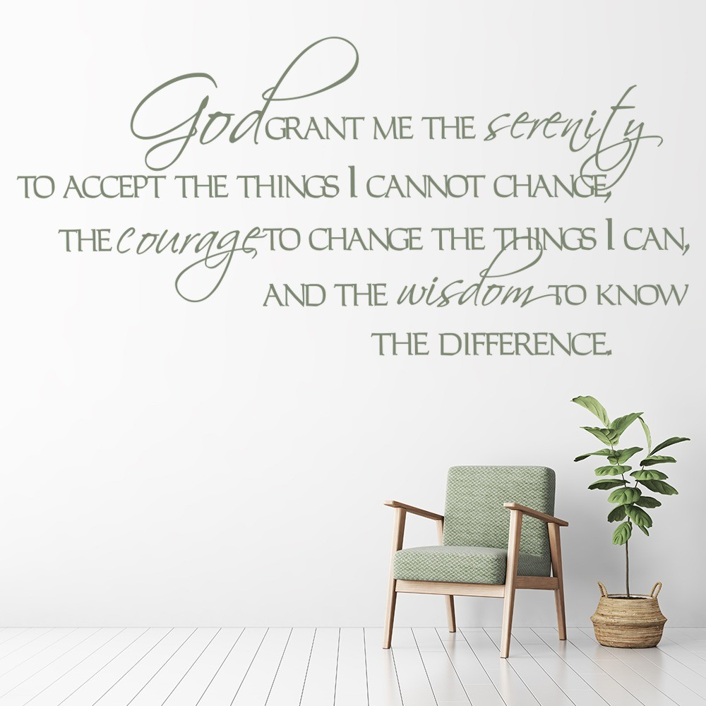 god religious wall stickers iconwallstickers co uk god grant me the serenity religious quotes wall stickers home decor art decals
