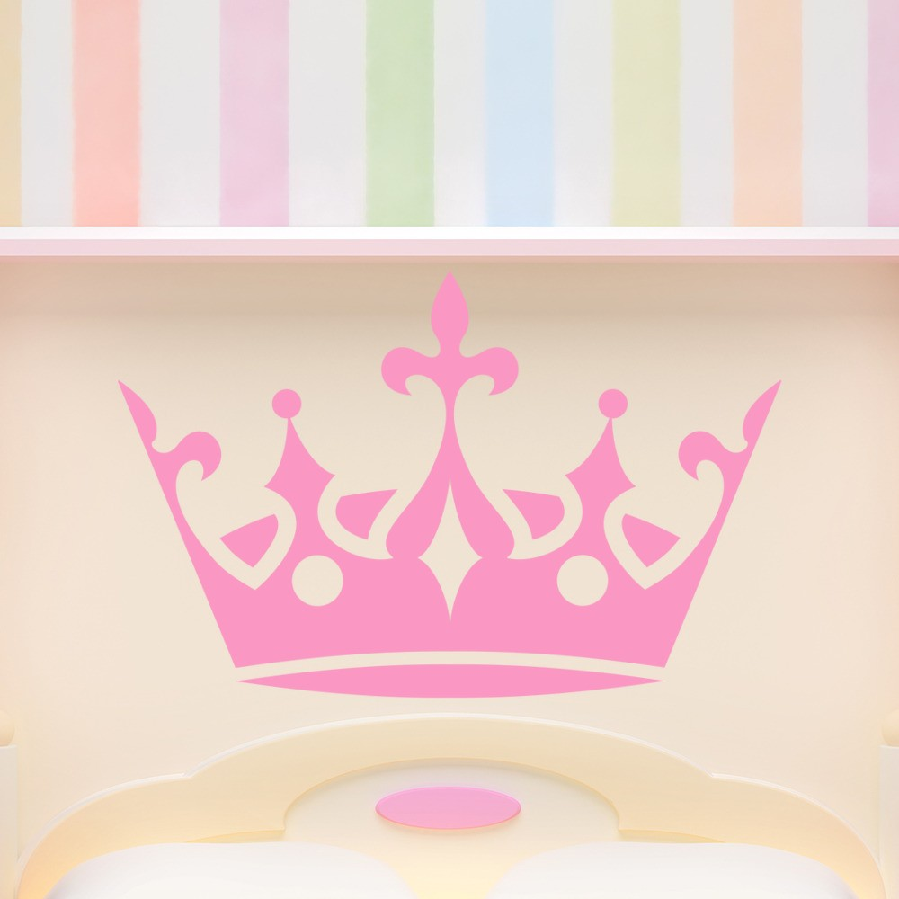 Princess wall stickers iconwallstickers princess crown royal tiara kids wall stickers home decor art decals amipublicfo Image collections